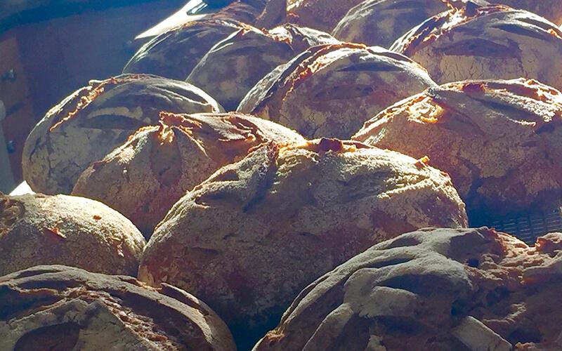 Sunny bread stack
