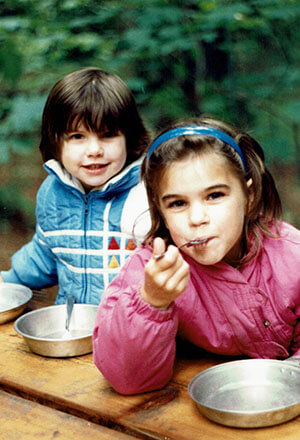 Craig & April's daughters having a picnic