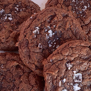 chocolate salted cookies