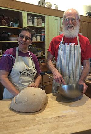 Craig & April baking bread